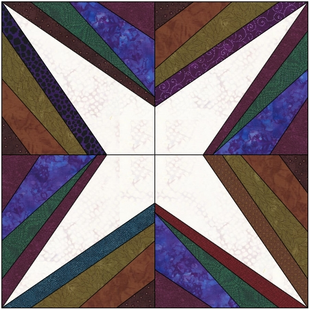 String Of Lights Quilt Pattern : Sue s string star Making Scrap Quilts from Stash